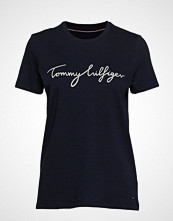 Tommy Hilfiger Heritage Crew Neck Graphic Tee T-shirts & Tops Short-sleeved Blå TOMMY HILFIGER