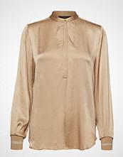 Bruuns Bazaar Cilla Nala Shirt Bluse Langermet Beige BRUUNS BAZAAR