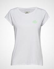 Mads Nørgaard Recycled Mix Teasy T-shirts & Tops Short-sleeved Hvit MADS NØRGAARD