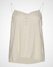Violeta by Mango Lace Detail Top T-shirts & Tops Sleeveless Creme VIOLETA BY MANGO