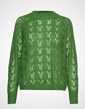Coster Copenhagen Knit W. Hole Pattern Strikket Genser Grønn COSTER COPENHAGEN
