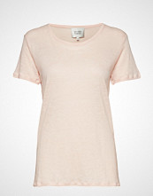 Second Female Peony O-Neck Tee T-shirts & Tops Short-sleeved Rosa SECOND FEMALE