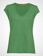 Coster Copenhagen Basic Tee W. V-Neck T-shirts & Tops Short-sleeved Grønn COSTER COPENHAGEN