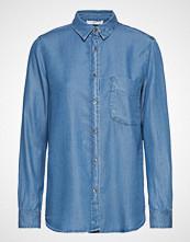 Mango Denim Style Soft Shirt Langermet Skjorte Blå MANGO