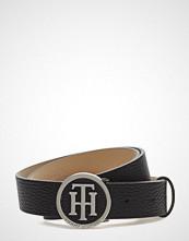 Tommy Hilfiger Th Round Buckle Belt 3.0 Belte Svart TOMMY HILFIGER