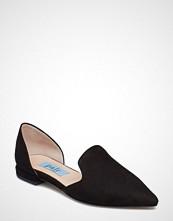 Apair Heel Cap Flat Pointed Open Side Ballerinasko Ballerinaer Svart APAIR