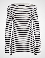 T by Alexander Wang Classic Striped Slub Jersey L/S Tee T-shirts & Tops Long-sleeved Hvit T BY ALEXANDER WANG