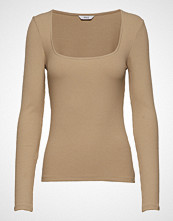 Envii Enotto Ls Tee 5923 T-shirts & Tops Long-sleeved Beige ENVII