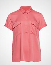 Violeta by Mango Pocket Blouse Bluse Kortermet Rosa VIOLETA BY MANGO