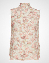 Notes du Nord Lydia Flower Top Bluse Ermeløs Rosa NOTES DU NORD