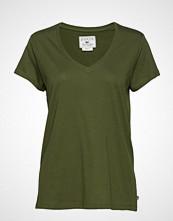 Lexington Clothing Becka V-Neck Tee T-shirts & Tops Short-sleeved Grønn LEXINGTON CLOTHING