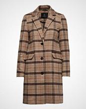 Bruuns Bazaar Olga Celina Coat Ullfrakk Frakk Brun Bruuns Bazaar