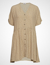 Envii Enjohn Ss Short Dress Aop 6626 Kort Kjole Beige ENVII