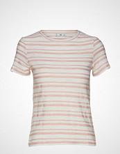 Mango Striped Cotton T-Shirt T-shirts & Tops Short-sleeved Rosa MANGO