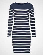 Gant O2. Striped Shift Dress Knelang Kjole Blå GANT