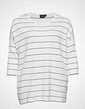 Zizzi Mtheresa 3/4 Blouse T-shirts & Tops Long-sleeved Hvit ZIZZI