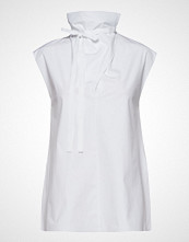 Theory Funnel Neck Tie Top. T-shirts & Tops Sleeveless Hvit THEORY
