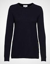 Davida Cashmere Side Buttons Sweater Strikket Genser Blå DAVIDA CASHMERE