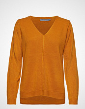 B.Young Bymalea V Neck Jumper - Strikket Genser Oransje B.YOUNG
