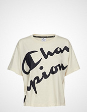 Cènnìs Crop Top T-shirts & Tops Short-sleeved Gul CHAMPION