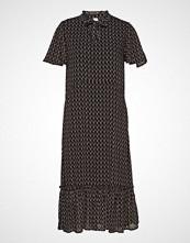 Saint Tropez U6114, Woven Dress - Maxi Knelang Kjole Svart SAINT TROPEZ