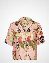 Morris Lady Donna Printed Linen Blouse Bluse Kortermet Multi/mønstret MORRIS LADY