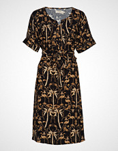 Cream Palm Dress Knelang Kjole Svart CREAM