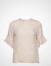 Mayla Stockholm Isa Silk Top Bluse Kortermet Rosa MAYLA STOCKHOLM