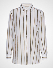 Mos Mosh Tandie Stripe Shirt Langermet Skjorte Hvit MOS MOSH