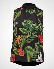 Mango Tropical Print Top Bluse Ermeløs Multi/mønstret MANGO