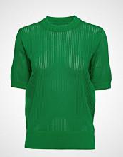 Calvin Klein Micro Lace Solid C-Nk Swtr Strikket Genser Grønn CALVIN KLEIN