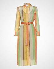 Coster Copenhagen Dress W. Ruffles Stroke Print W. Lu Knelang Kjole Multi/mønstret COSTER COPENHAGEN