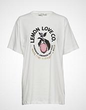 Munthe Ham T-shirts & Tops Short-sleeved Hvit MUNTHE