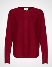 Davida Cashmere Curved Sweater Strikket Genser Rød DAVIDA CASHMERE