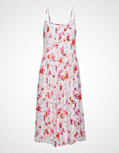 Banana Republic Sl Printed Maxi Brushed Floral White Knelang Kjole Rosa Banana Republic