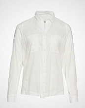Violeta by Mango Chest-Pocket Cotton Shirt Bluse Langermet Hvit VIOLETA BY MANGO
