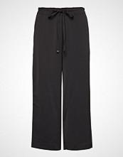 Mango Drawstring Culottes Trousers Vide Bukser Svart MANGO