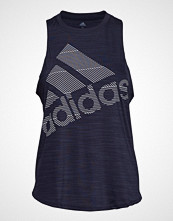 Adidas Performance Bos Logo Tank T-shirts & Tops Sleeveless Blå ADIDAS PERFORMANCE