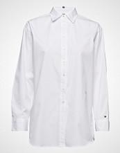 Tommy Hilfiger Th Essential Boyfriend Shirt Langermet Skjorte Hvit TOMMY HILFIGER