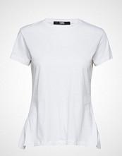 Karl Lagerfeld Logo Collar T-Shirt T-shirts & Tops Short-sleeved Hvit KARL LAGERFELD