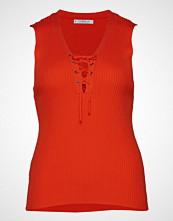 Violeta by Mango Ribbed Top T-shirts & Tops Sleeveless Oransje VIOLETA BY MANGO