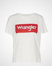 Wrangler Logo Tee T-shirts & Tops Short-sleeved Hvit WRANGLER
