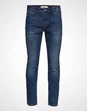 Mango Man Slim Fit Faded Dark Wash Tim Jeans Slim Jeans Blå MANGO MAN