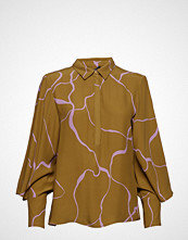 Bruuns Bazaar Ina Abstract Shirt Bluse Langermet Gul BRUUNS BAZAAR