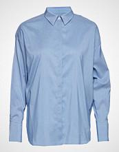 J.Lindeberg Nicco Cotton Silk Langermet Skjorte Blå J. LINDEBERG