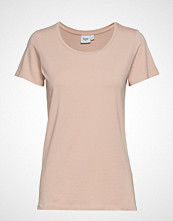 Saint Tropez R1520, T-Shirt With Round Neck T-shirts & Tops Short-sleeved Rosa SAINT TROPEZ