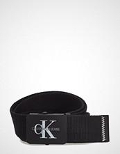 Calvin Klein J 4cm Adj.Monogram C Belte Svart CALVIN KLEIN