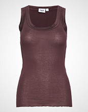 Saint Tropez E1375, O-N Rib Top W Wide Straps T-shirts & Tops Sleeveless Lilla SAINT TROPEZ