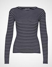 Mads Nørgaard 2x2 Duo Stripe Tuba T-shirts & Tops Long-sleeved Blå MADS NØRGAARD