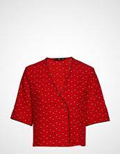 Mango Wrap V-Neckline Blouse Bluse Kortermet Rød MANGO